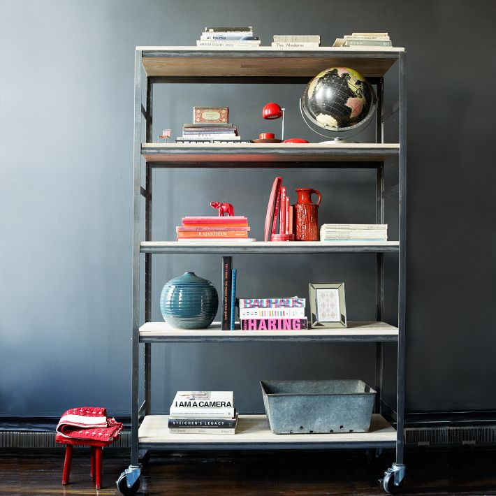 West elm metal and white shelves | raisonné blog