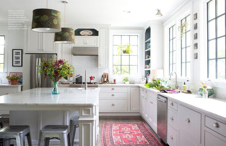 Bright kitchen rug via Lonny Magazine, Oct. '13