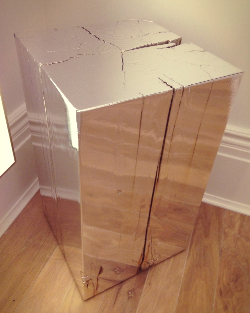 Mirrored wooden stool at Club Monaco flagship store | raisonné blog