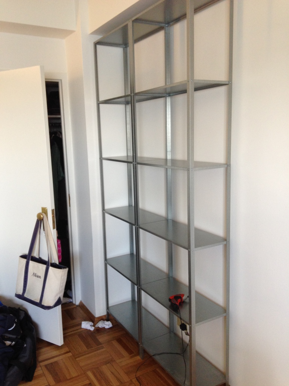 Apartment progress ikea hyllis shelving units untitled for Ikea draget