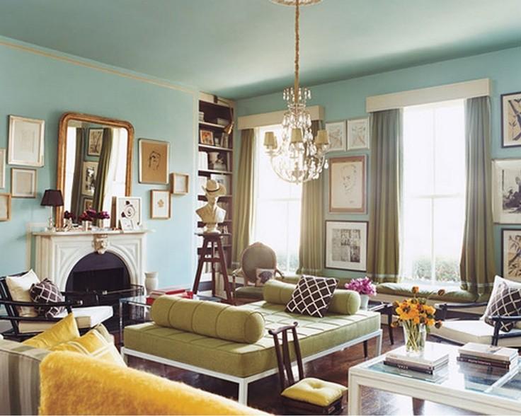 Domino Magazine living room